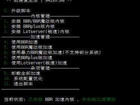 BBR+BBR魔改+Lotsever(锐速)一键脚本 for Centos/Debian/Ubuntu