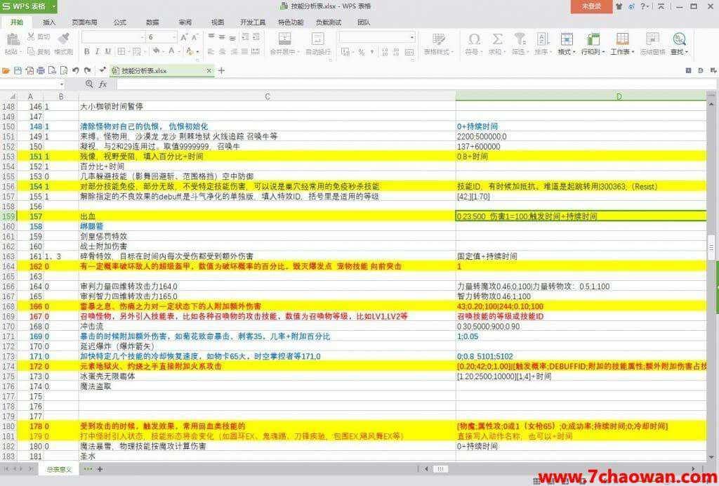 龙之谷 技能分析表.xlsx