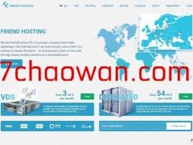 friendhosting:新增中文界面,美国等8机房-不限流量VPS,一律5折