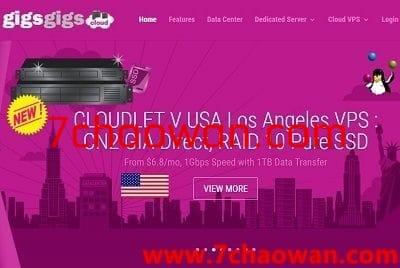 gigsgigscloud:美国VPS,三网CN2 GIA,.99/月,给500g流量,500Mbps带宽