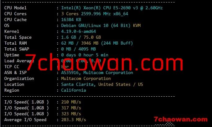racknerd大硬盘VPS简单测评,貌似效果可能比常规的好点儿!