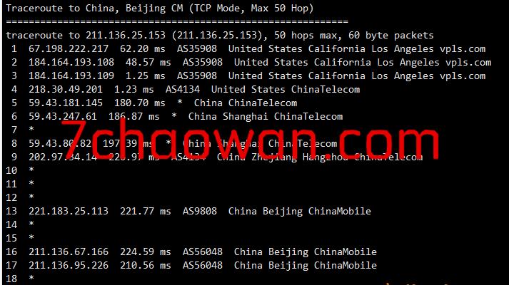 hotiis:洛杉矶三网CN2 GIA VPS测评,100Mbps带宽,晚高峰也不含糊!
