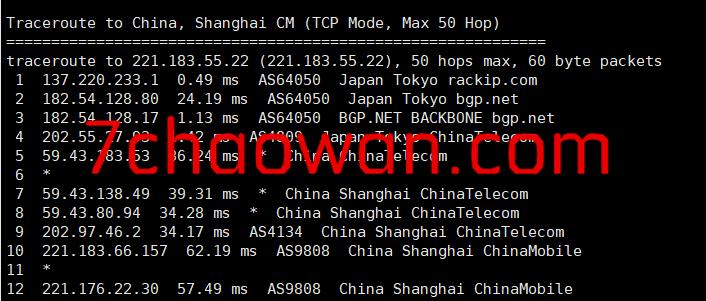 hotiis(热网互联):日本cn2 gia VPS简单测评,三网回程都是cn2 gia,效果确实不一般!