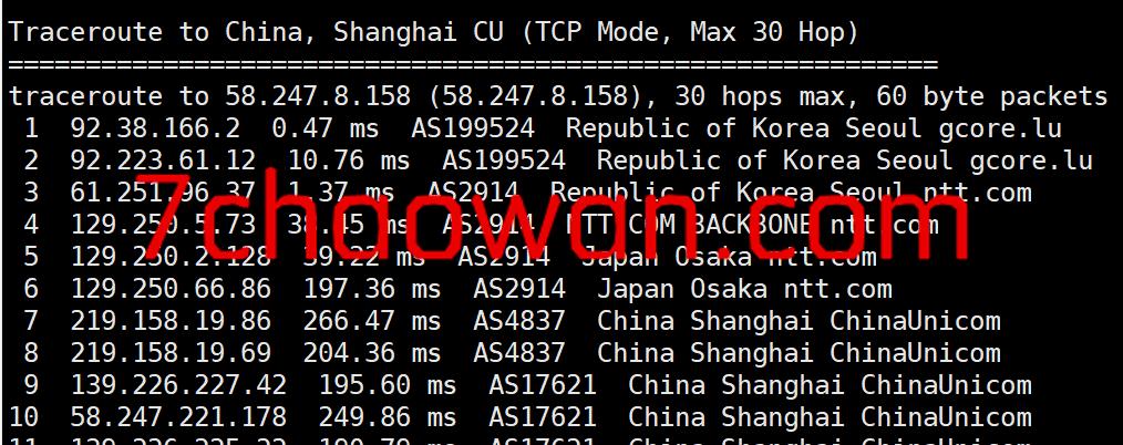 gcorelabs:简单测评€4.99/月的韩国VPS,适合联通,电信凑合,移动滚蛋